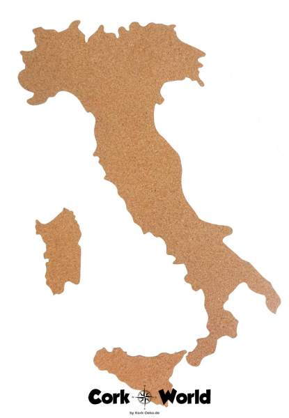 Italienkarte Korkwand