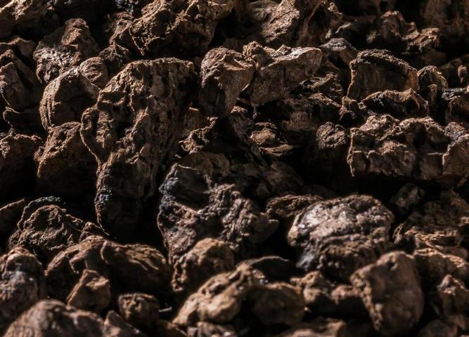 Schwarzkork-Granulat Detailansicht