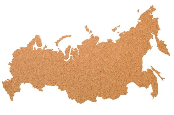 Kork-Pinnwand Russland