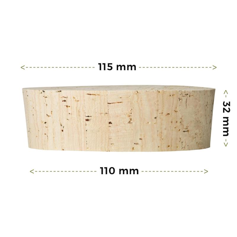 Fasskorken Größe 32x115/110mm kaufen