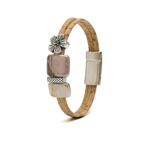 Kork-Armband Blume