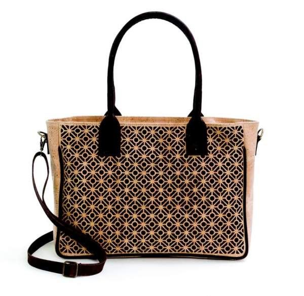 fd0d82c7286c3 Handtasche aus Korkstoff mit verspieltem Muster kaufen