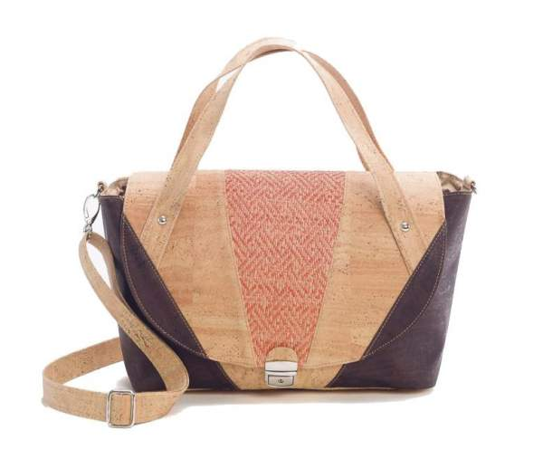 Damen Handtasche Bi-color aus Kork