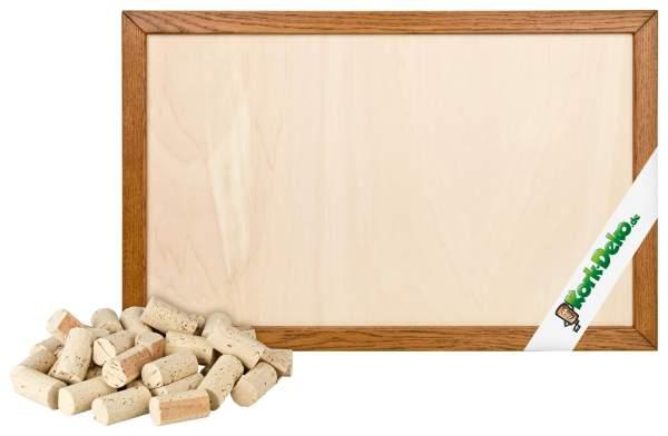 Pinnwand aus Korken selber bauen. DIY