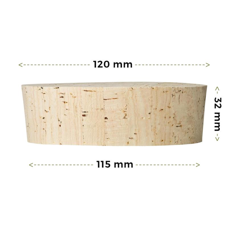 Fasskorken Größe 32x120/115mm kaufen