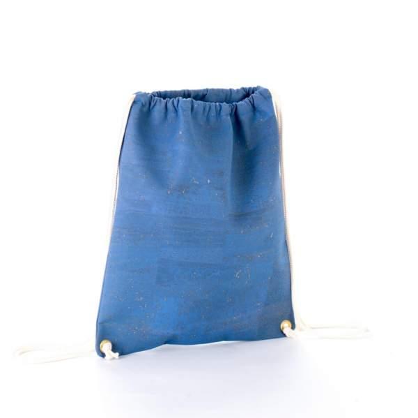 Hipper Turnbeutel aus Kork, Farbe: blau (jeans-farben) online kaufen