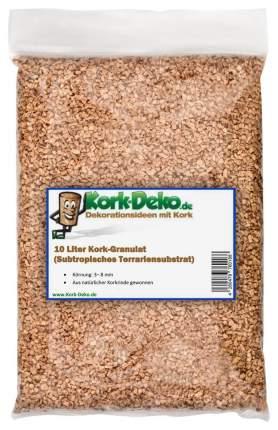 10 Liter Korkgranulat, subtropisch, mittlere Körnung (2-4 mm) (Korkschrot)