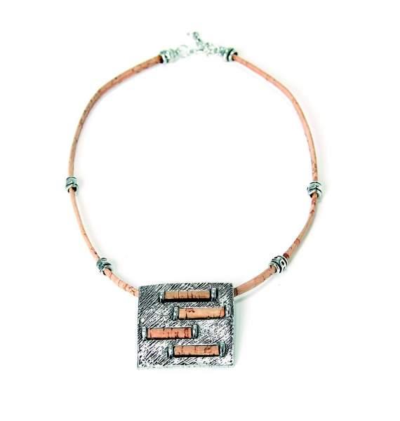 Halskette aus Korkband kaufen