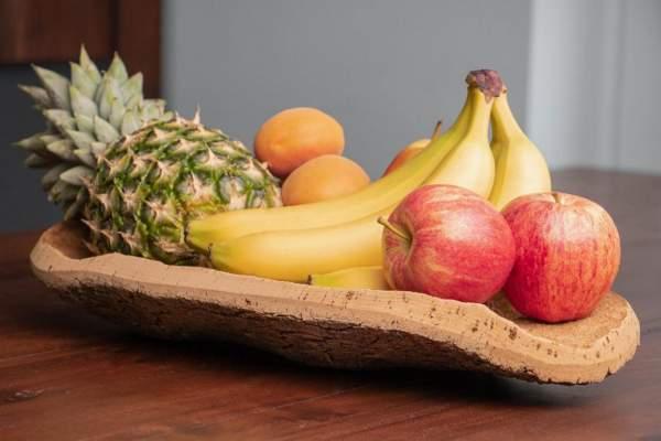 Obstschale aus Kork, Naturkork-Rinde kaufen