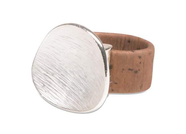 Kork-Ring dunkelbraun / silber kaufen
