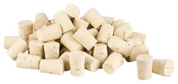 Naturkorken (konische Stopfen) 13-16mm kaufen. Für Reagenzglas mit einem Innendurchmesser von ca. 12-17 mm.  Ideal für Reagenzgläser (14 mm, 16 mm) und Globuli Röhrchen
