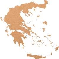 Kork-Pinnwand Griechenland