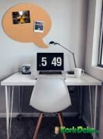 Pinnwand für´s Büro: Korkpinnwand in der Form einer Sprechblase XXL