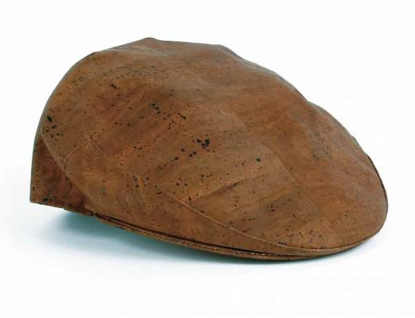 Schiebermütze (Schirmmütze, Batschkapp) aus Kork, dunkel-braun