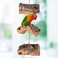 Korkrinde-Mobile für Vögel